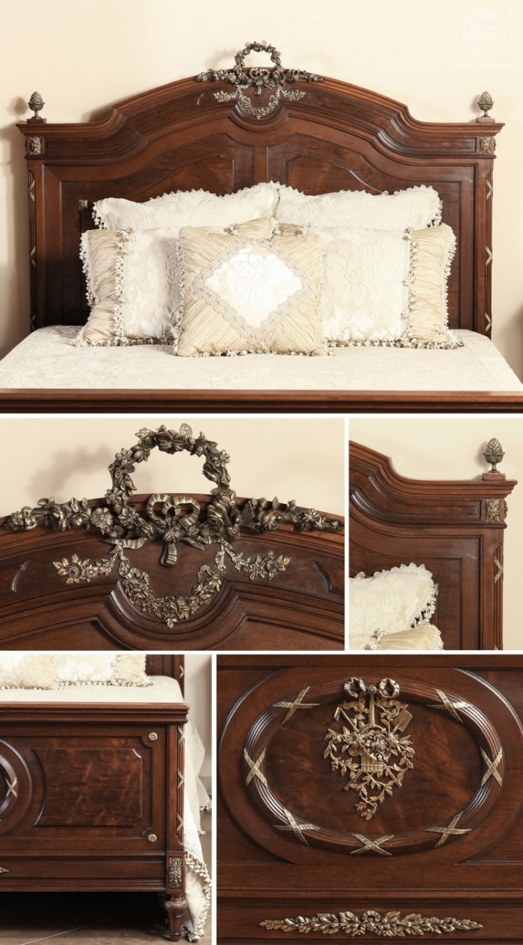 Louis xvi bedroom furniture - Antique Bedroom Set Bed Antique Nightstand
