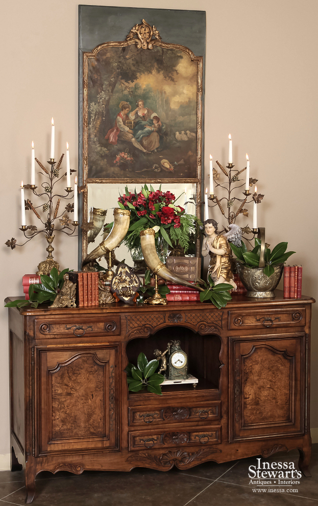 Antique Furniture Christmas Decoration
