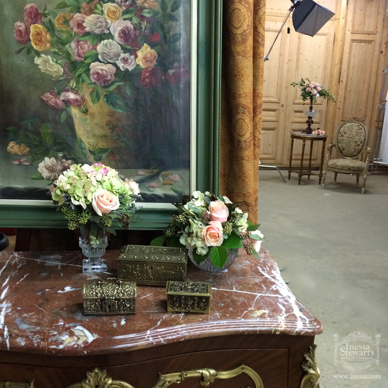 Antique Furniture Painting Flowers