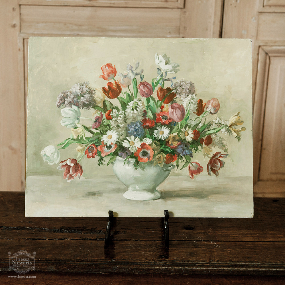 Antique furniture art painting