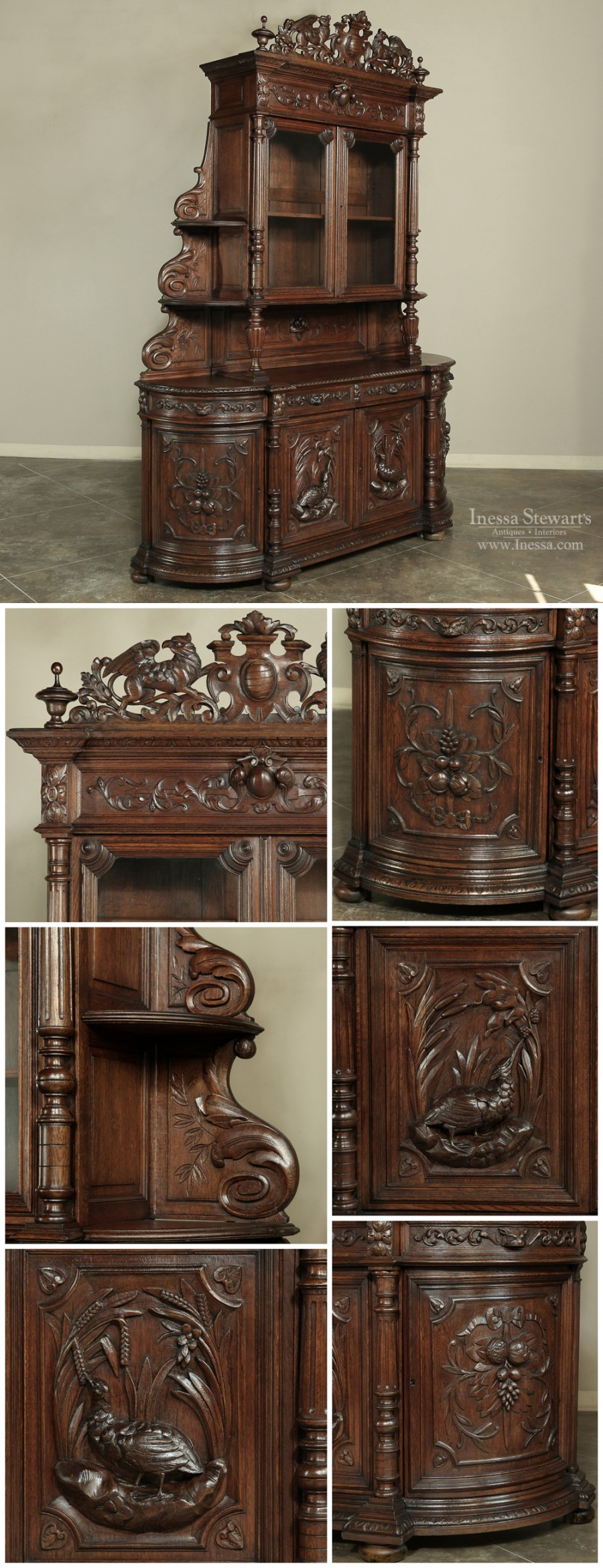 French Antique Buffet Collage