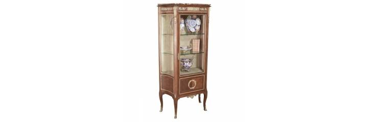 Antique Vitrines And Bonnetieres