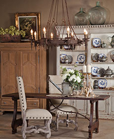 antique oak dining room