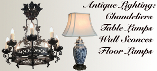 Antique Lighting ~ Chandeliers, Lamps, Sconces
